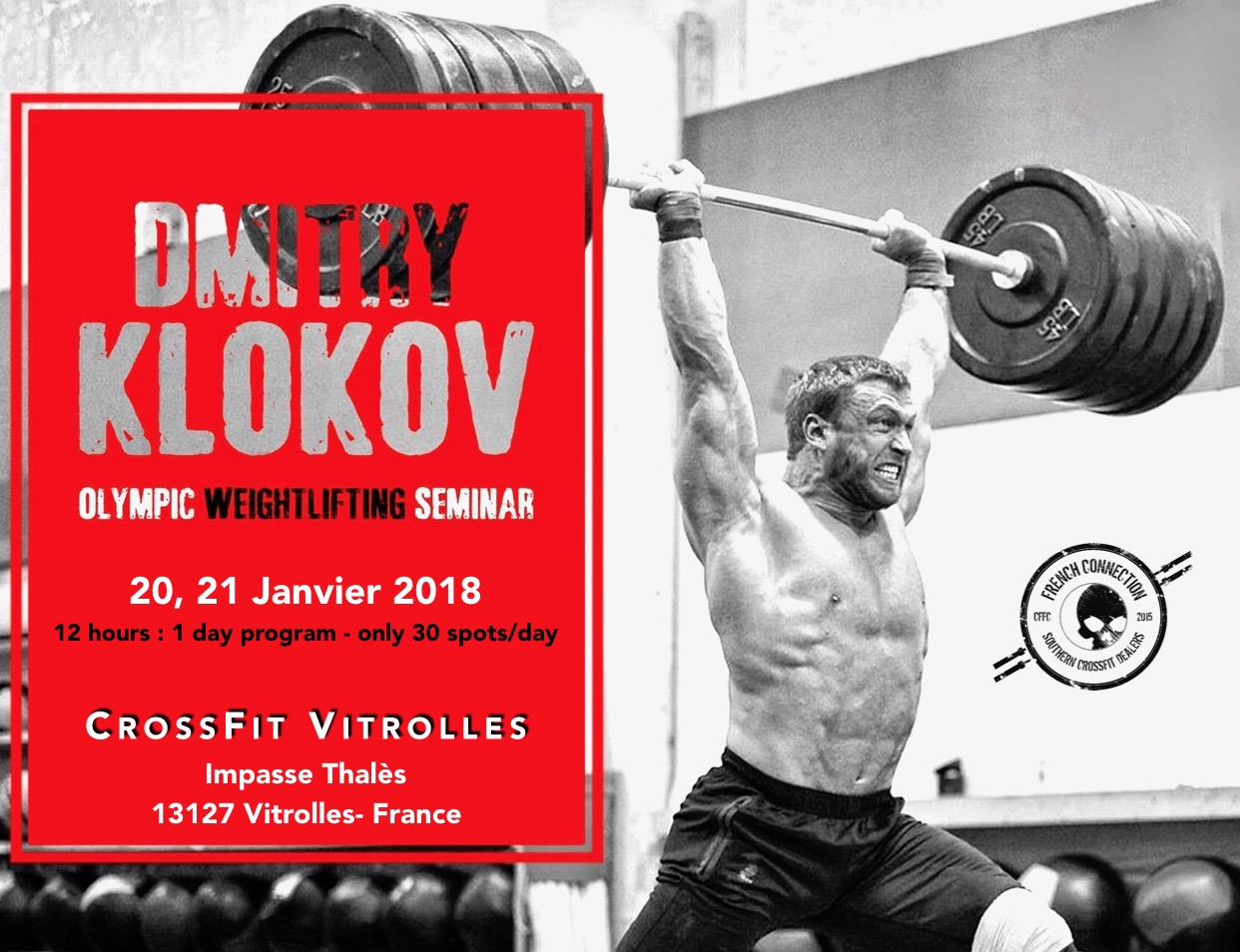 Dmitry Klokov chez CrossFit French Connection