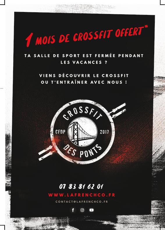 Jusqu'à un mois de CrossFit OFFERT* et sans condition d'engagement @ CrossFit Des Ponts !