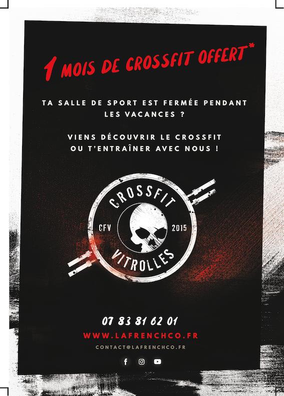 Jusqu'à un mois de CrossFit OFFERT* et sans condition d'engagement @ CrossFit Vitrolles !