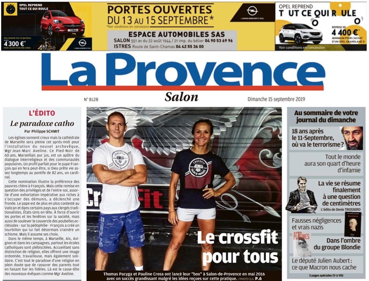 CrossFit Salon de Provence à la Une de la Provence