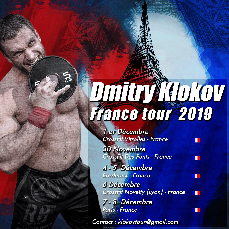 30/11 et 01/12 2019 : Séminaires Dmitry Klokov