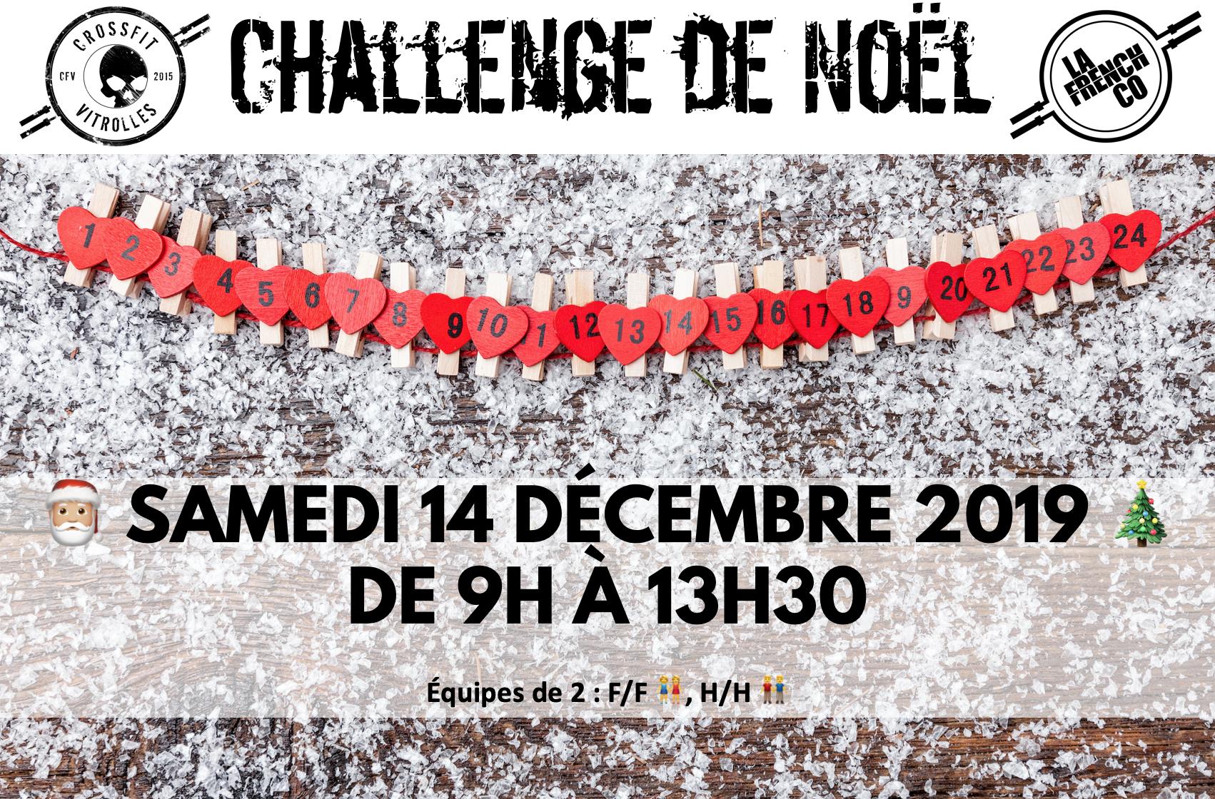 Challenge de Noël chez CrossFit Vitrolles le 14/12/2019