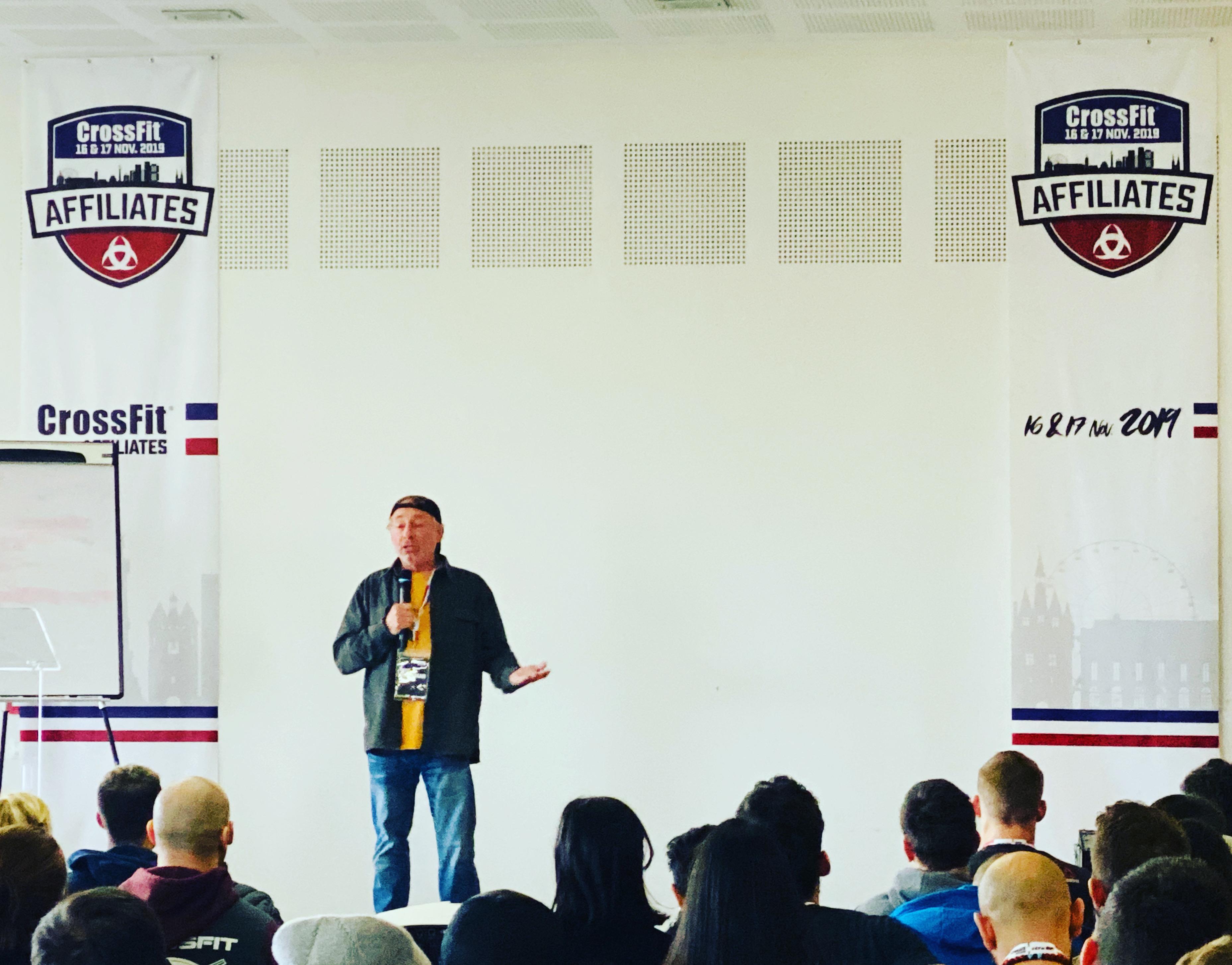 Greg GLASSMAN à la réunion des affiliées CrossFit France 2019