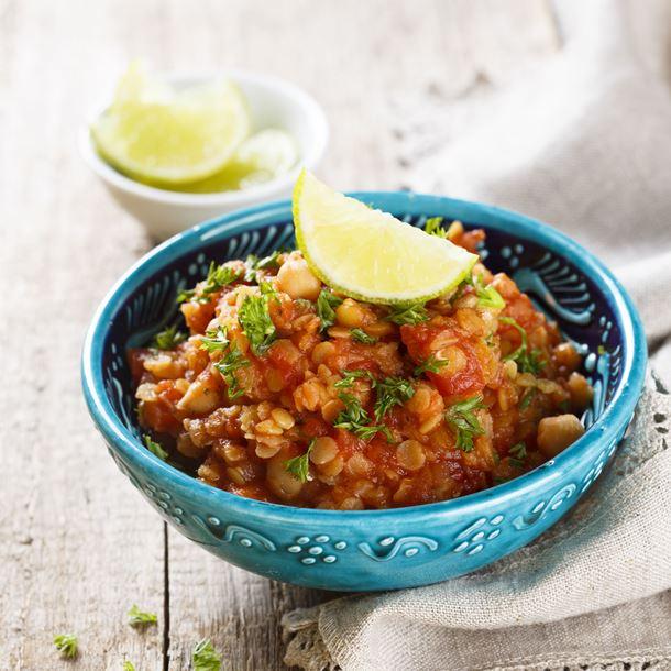 Dhal de lentilles au curry et au coco