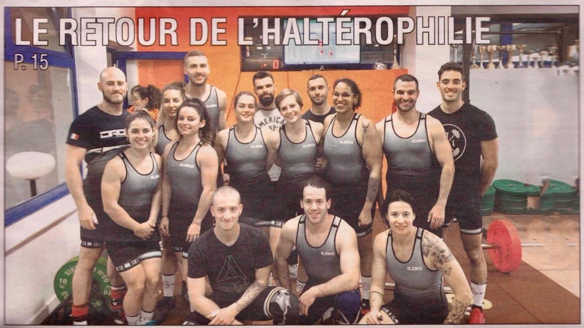 La Compagnie de la Barre (association d'haltérophilie) à la une du «Régional»