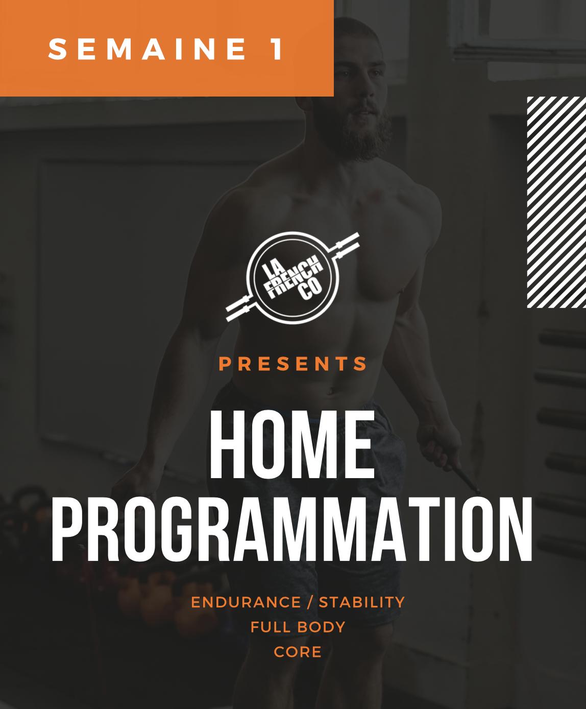 Home Prog, Cycle 4, semaine 1