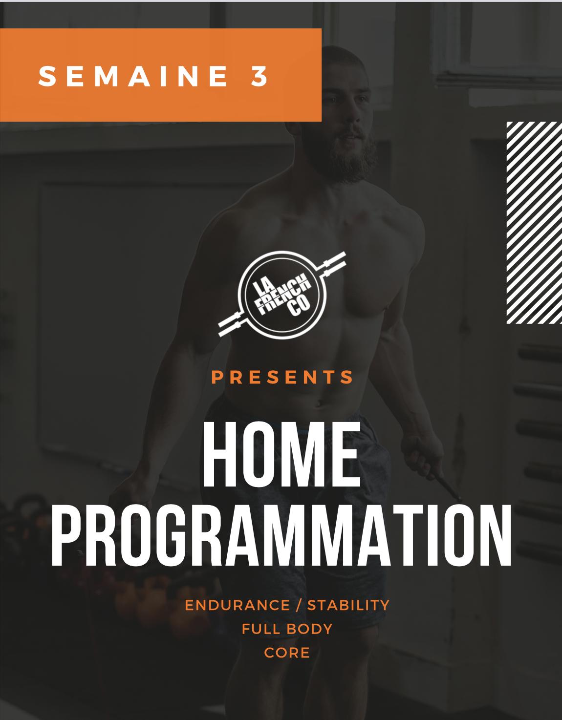 Home Prog, Cycle 4, semaine 3